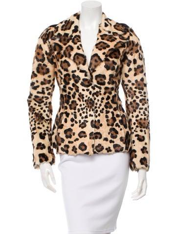Blumarine Printed Ponyhair Jacket