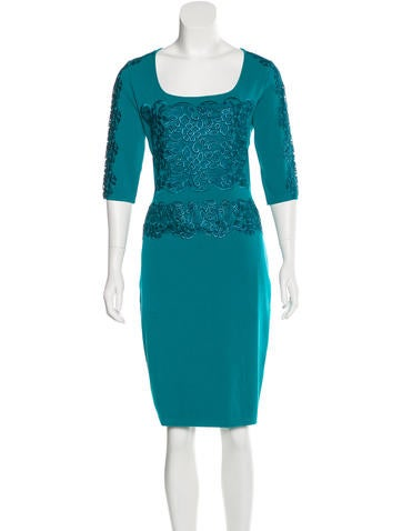 Blumarine Lace-Accented Knee-Length Dress None