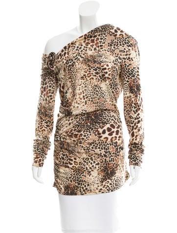 Blumarine Wool Leopard Print Top None