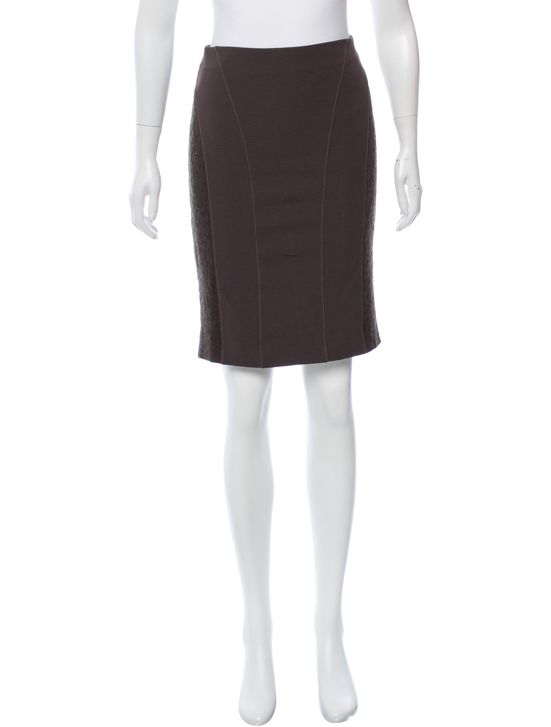 Blumarine Knit Pencil Skirt - Clothing - BLU25698 | The ...
