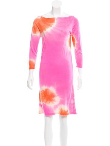 Blumarine Silk Tie-Dye Dress None