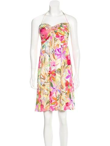 Blumarine Floral Print Strapless Dress w/ Tags None