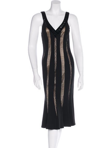 Blumarine Embellished Sleeveless Dress None