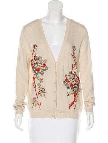 Blumarine Cashmere-Blend Intarsia Sweater None