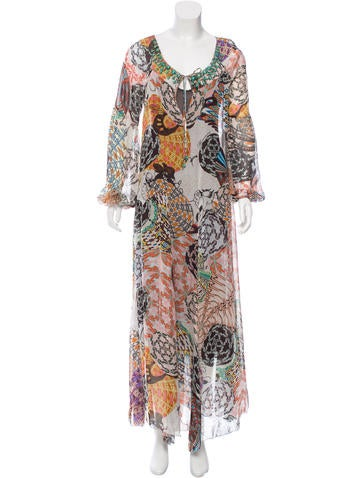 Blumarine Silk Printed Dress None