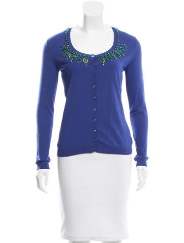 Blumarine Embellished Knit Cardigan None