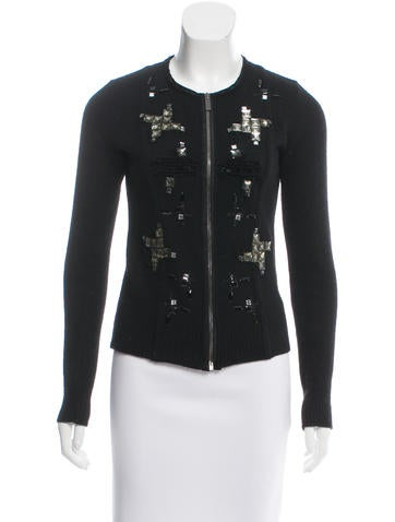 Blumarine Embellished Wool Cardiagn None