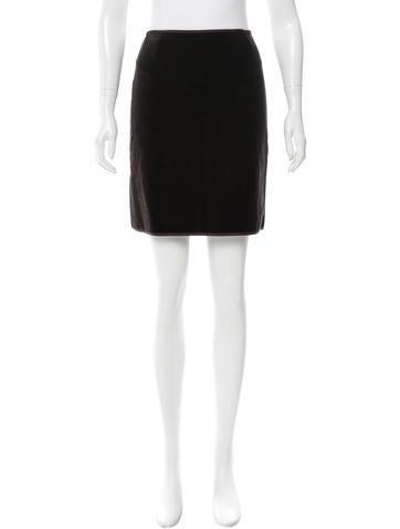 Blumarine Velvet Mini Skirt