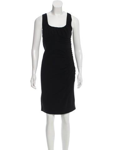Blumarine Wool Pleated Dress None