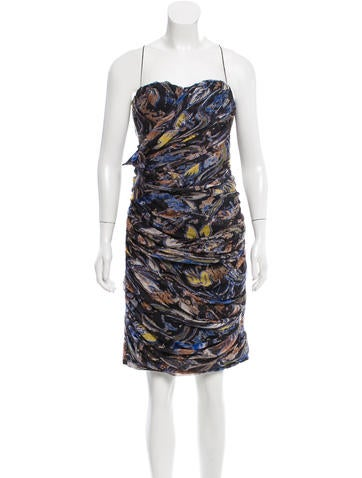 Blumarine Printed Silk Dress None