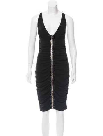 Blumarine Embellished Ruched Dress None