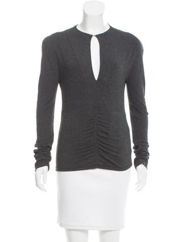 Blumarine Long Sleeve Knit Top None