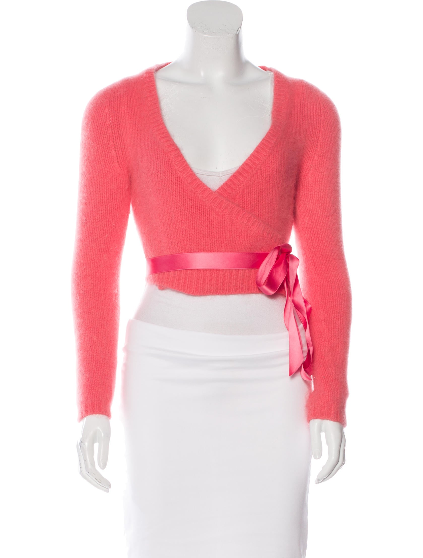 Angora Wrap Cardigan Full Zip Sweater
