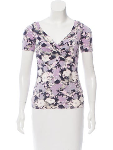 Blumarine Embellished Abstract Top None