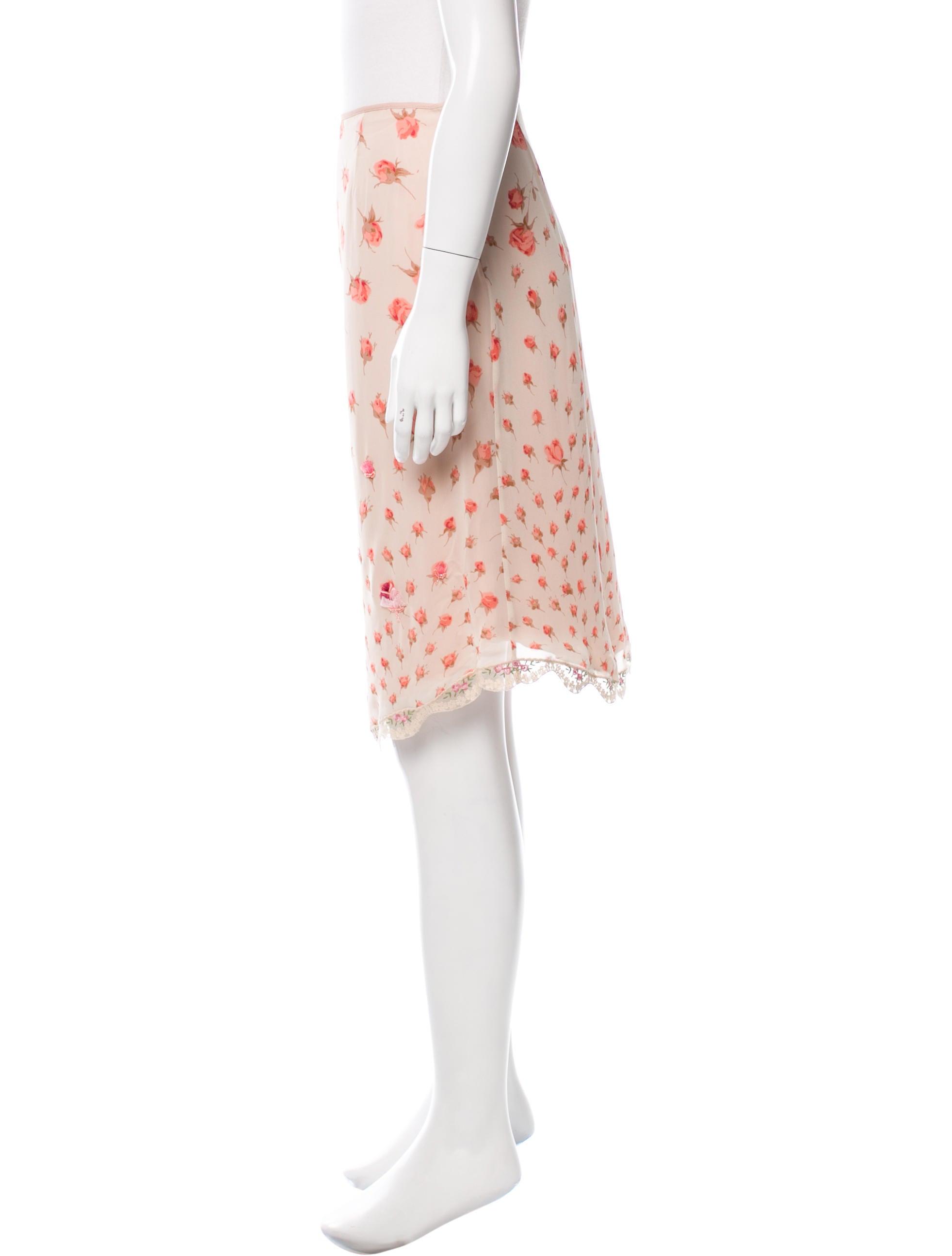 blumarine floral print knee length skirt clothing