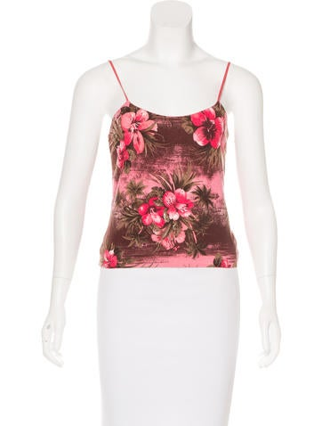 Blumarine Silk Floral Pattern Top None