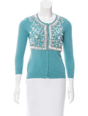 Blumarine Embellished Lightweight Cardigan None