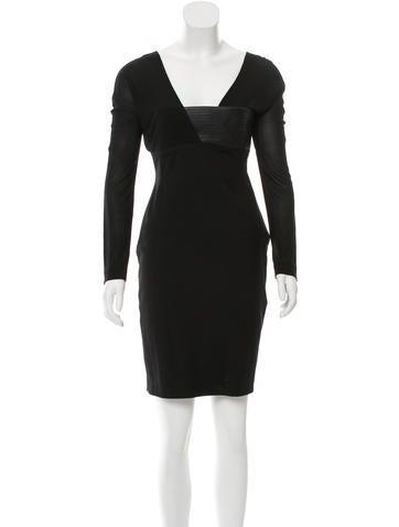 Blumarine Long Sleeve Bodycon Dress None