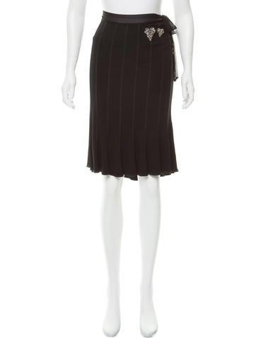 Blumarine Embellished Knit Skirt None