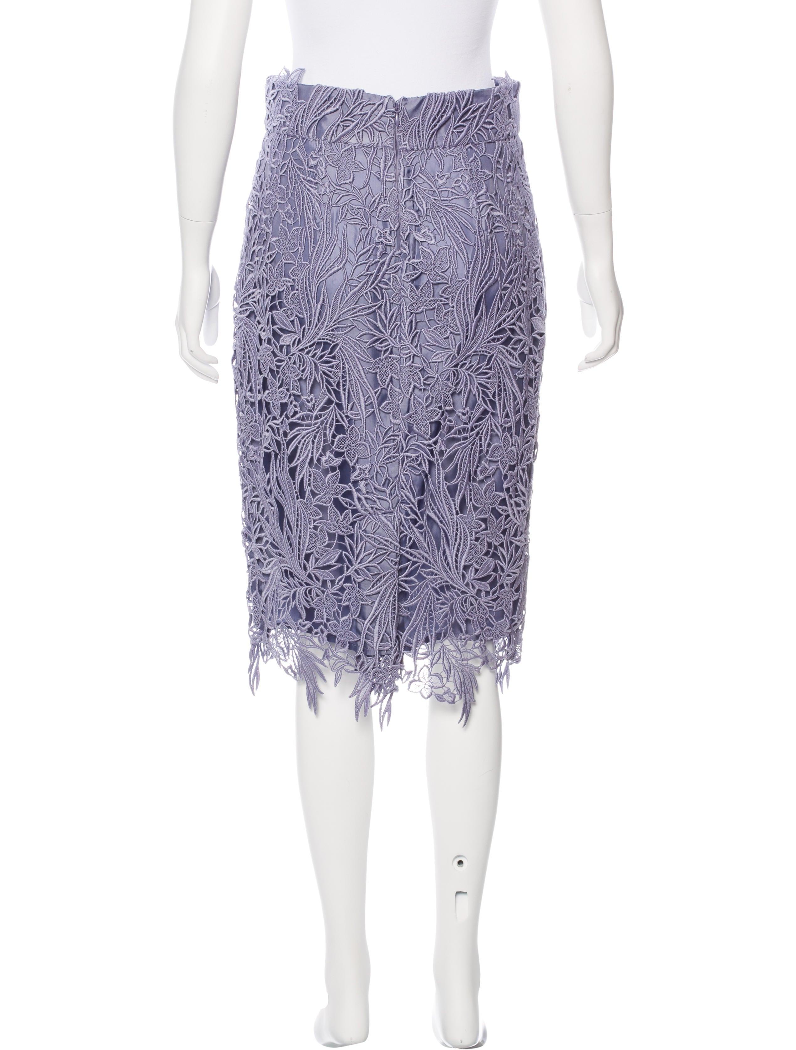 blumarine knee length guipure lace skirt clothing