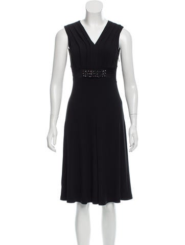 Blumarine Sleeveless Lace-Trimmed Dress None