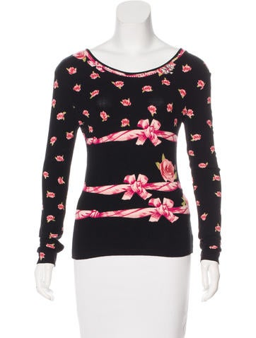 Blumarine Patterned Embellished Sweater None