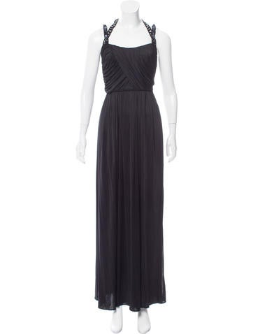 Blumarine Embellished Evening Dress None