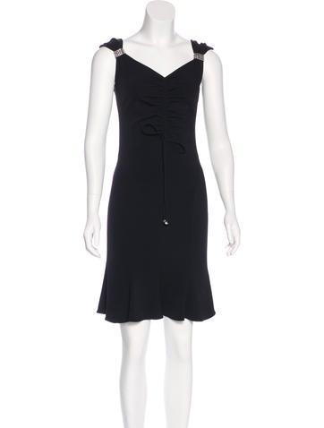 Blumarine Embellished Silk Dress None