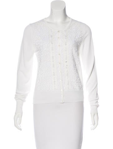 Blumarine Embroidered Knit Cardigan w/ Tags None