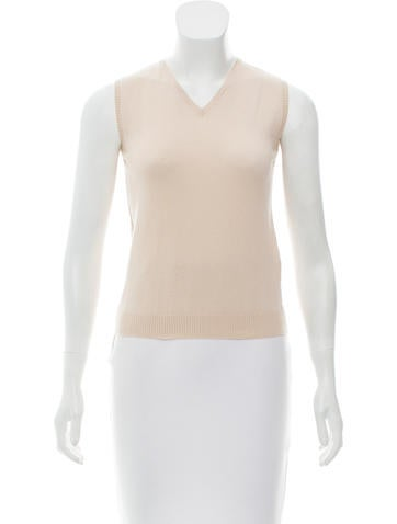 Blumarine Sleeveless Wool Sweater None