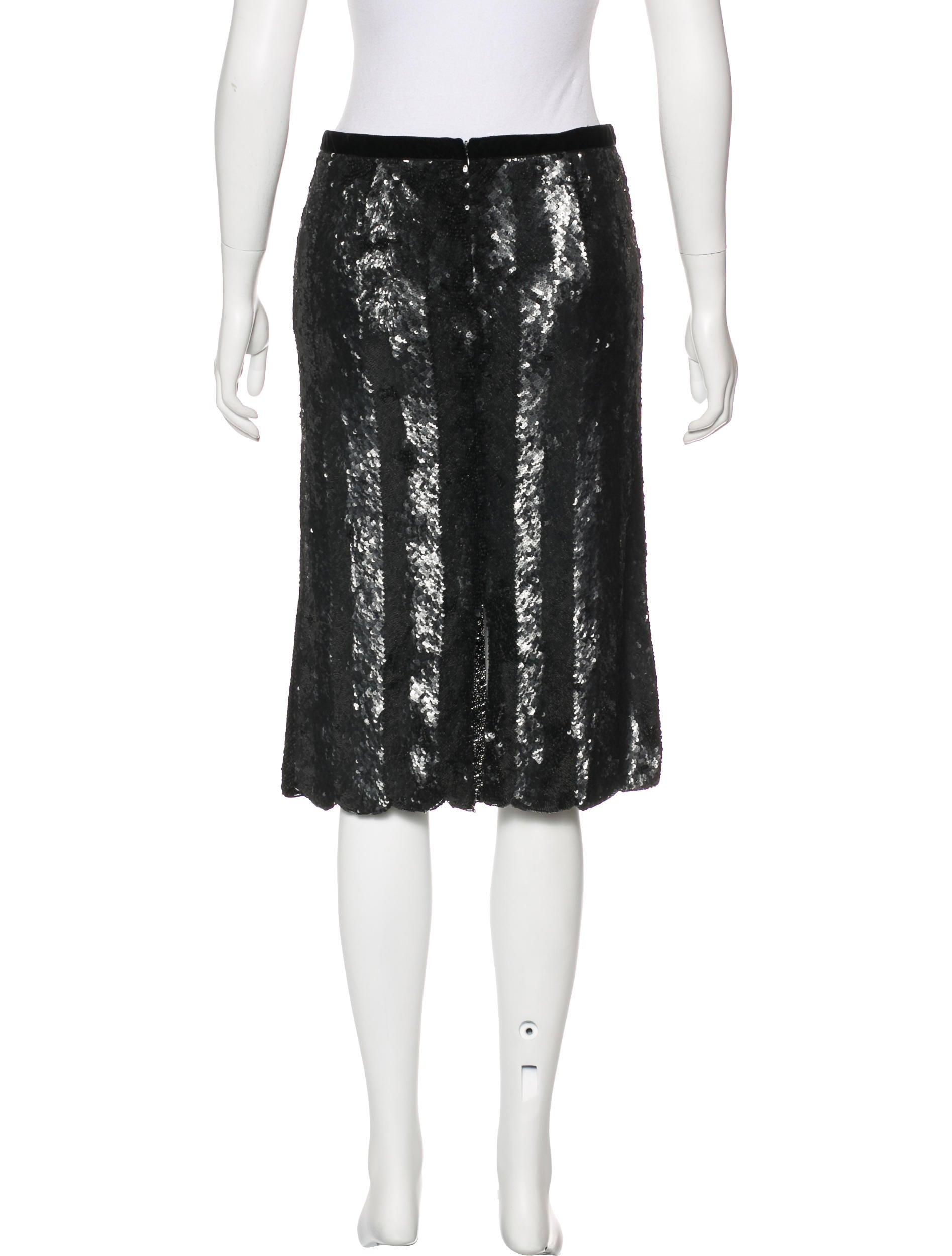 blumarine sequin knee length skirt w tags clothing