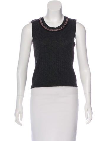 Blumarine Knit Embellished Sweater None