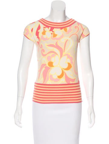 Blumarine Knit Patterned Top None