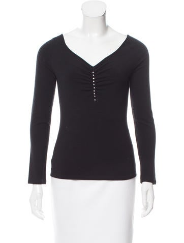 Blumarine Embellished Wool Top None