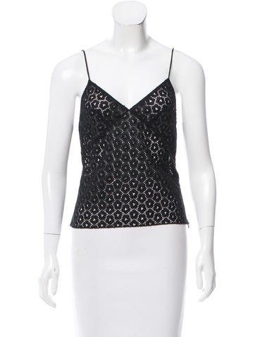 Blumarine Sleeveless Guipure Top None