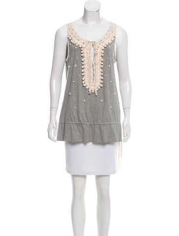 Blumarine Embellished Sleeveless Top None