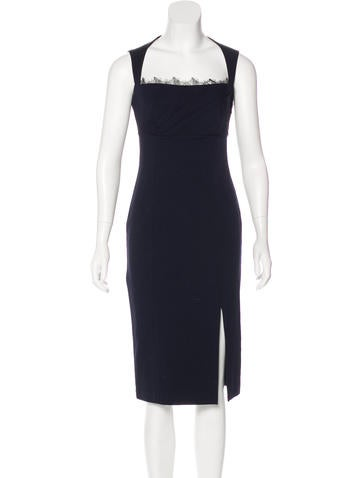 Blumarine Wool Midi Dress None