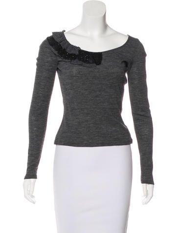 Blumarine Wool Long Sleeve Top None