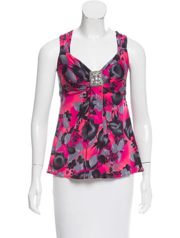 Blumarine Printed Sleeveless Top None