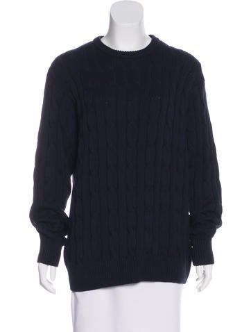 Blumarine Long Sleeve Cable-Knit Sweater None