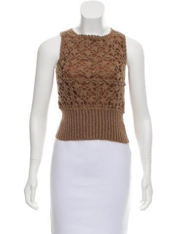 Blumarine Knit Crop Top None