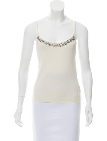 Blumarine Embellished Knit Top None