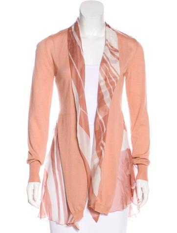Blumarine Sash-Trimmed Knit Cardigan None