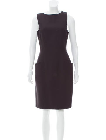 Blumarine Sleeveless Wool Dress None