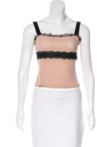 Blumarine Wool Crop Top None