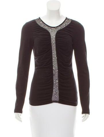 Blumarine Embellished Wool Top None