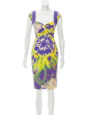 Blumarine Printed Sleeveless Dress None