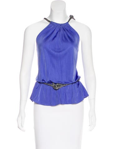 Blumarine Sleeveless Embellished Top None