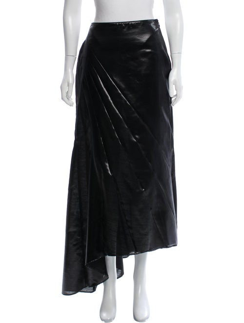 Blumarine Wool-Blend Metallic Skirt Metallic