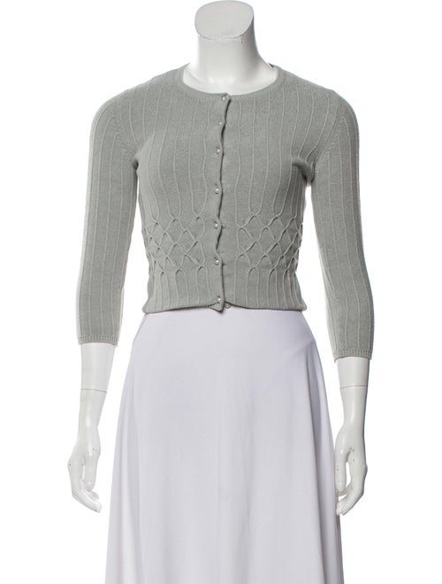 Blumarine Cropped Knit Cardigan